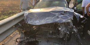 Otomobil ile TIR çarpıştı: 2 yaralı