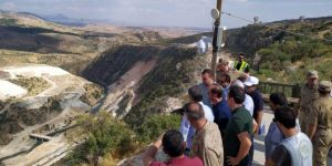 Kaymakam Uslu, Silvan Barajında incelemelerde bulundu