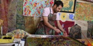 A different dimension to the art of marbling