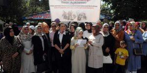 Bingöllü kadınlardan oturma eylemindeki annelere destek