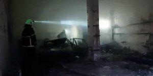 Viranşehir'de aksesuar dükkânı içindeki araba ve malzemelerle birlikte küle döndü