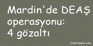 Mardin'de DEAŞ operasyonu: 4 gözaltı