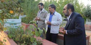 Serokatîya Bajêra Diyarbekirê ya HUDA PARê qebrên şehîdên 6-8ê Cotmehê ziyaret kir