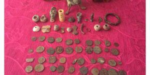 Kahta'da tarihi eserler ele geçirildi