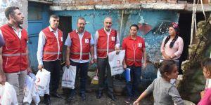 İhtiyaç sahibi ailelere Kızılay'dan kurban eti dağıtımı