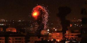 Siyonist terör çetesinden Gazze'ye hava saldırısı: 2 şehid