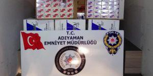 Adıyaman'da 5 bin paket gümrük kaçağı sigara ele geçirildi
