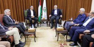 BM temsilcisi ile Hamas Siyasi Birim Başkanı Heniyye Gazze'de bir araya geldi