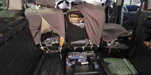 Siirt'te aracın içine zulalanmış bin 700 paket kaçak sigara ele geçirildi
