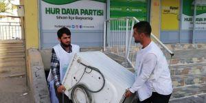 HÜDA PAR Silvan Gençlik Kollarından Suriyeli mağdur aileye yardım eli