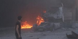 The rocket shelling on a camp causes 15 casualties including 6 children in Idlib