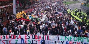 Anti-government protesters take to streets as protests spread to Colombia