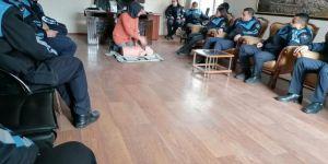 Zabıtalara iş sağlığı ve güvenliği eğitimi verildi