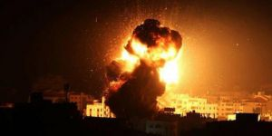 Zionists' aerial attacks target different sites in Gaza