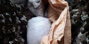 Karlıova'da 450 kilo amonyum nitrat ele geçirildi