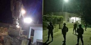 Zionist gangs raze four homes of prisoners in al-Khalil
