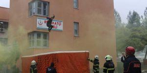 Batman Bölge Devlet Hastanesinde yangın tatbikatı