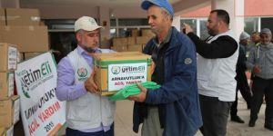 Avrupa Yetim Eli Arnavutluk'taki depremzedelere yardımda bulundu