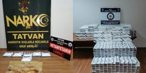 Tatvan'da uyuşturucu ve gümrük kaçağı sigara ele geçirildi