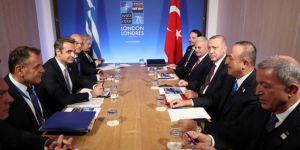 Cumhurbaşkanı Erdoğan Yunan Başbakan Mitsotakis ile bir araya geldi