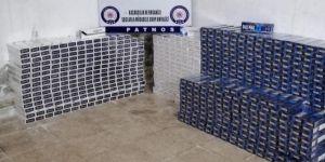Patnos'da 12 bin paket kaçak sigara ele geçirildi