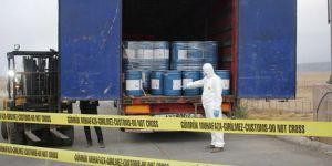 Ağrı'da 18 ton siyanür ele geçirildi