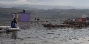 Kurtalan'da baraj havzasında mahsur kalan hayvanlar kurtarıldı