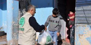 Umut Kervanından Suriyeli mağdur aileye yardım