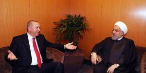 Cumhurbaşkanı Erdoğan ile İran Cumhurbaşkanı Ruhani bir araya geldi