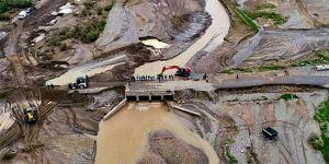 Hasar gören köprü onarıldı