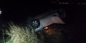 Nusaybin'de otomobil takla attı: 3 yaralı