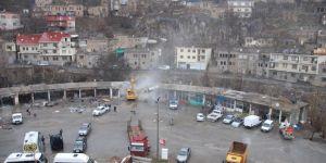 Bitlis Eski Sanayi Sitesi'ndeki iş yerlerinin yıkımına başlandı