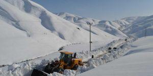 Bitlis'te kar yağışı nedeniyle 50 köye ulaşım sağlanamıyor