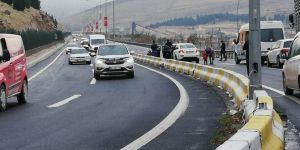 Türkmenler Deresi geçidinde bir kaza daha