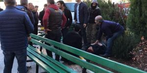 Diyarbakır Yenihal Kavşağı yakınlarında hızını alamayan minibüs kaldırımda yürüyenlere çarptı