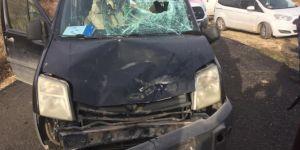 Gercüş'te motosiklet ile araç kafa kafaya çarpıştı: 1 yaralı