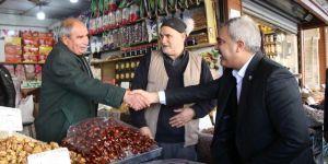 HÜDA PAR Şanlıurfa İl Başkanlığından Balıklıgöl Çarşısı esnafına ziyaret