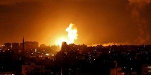 Siyonist terör çetesinden Gazze'ye hava saldırısı