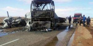 Cezayir'de yolcu otobüsleri kaza yaptı