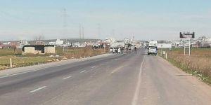 Şanlıurfa'da şüpheli araç lastiği bomba imha uzmanları tarafından imha edildi