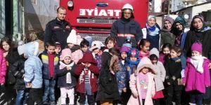 Malatya'da Kur'an Kursu öğrencilerine yönelik yangın tatbikatı