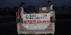 Çayırova Belediyesinden Elazığ'daki deprem mağdurlarına yardım eli