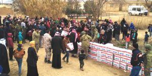 Tel Abyad ve Resulayn'da insani yardımlar devam ediyor