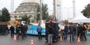 Diyarbakır İstasyon Meydanı dev Kudüs mitingine hazırlanıyor