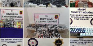 Şırnak'ta kaçakçılık operasyonları: 92 gözaltı