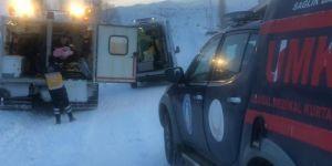 Bingöl'de 2 hasta 4 saatlik uğraş sonunda hastaneye ulaştırıldı