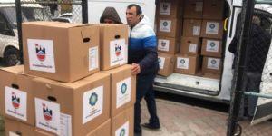 DB Belediyesi'nden Elâzığ'daki depremzedelere gıda yardımı