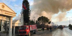 Adana'da pamuk fabrikasında yangın çıktı