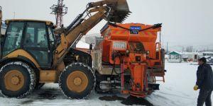 Bingöl'de karla mücadelede yoğun mesai