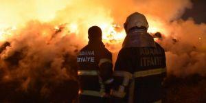 Adana'da, pamuk ve yağ fabrikasında çıkan yangın söndürülemiyor